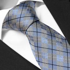 CRAVATE Luxe de Marque en SOIE Ecossais Bleu - Silk Necktie Blue Tartan Cravatte
