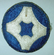 AMERICAN PATCHES-ORIGINAL WW2 UNITED STATES 4th SERVICE COMMAND SNOWY BACK