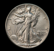 1945 50C Walking Liberty 90% Silver Half Dollar AU Great Luster No S/H *2892
