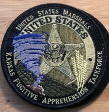 US Marshals Service - District of Kansas OD version Fugitive Appr TF round patch