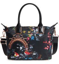 0ca9b3cff5 New TED BAKER LONDON Small Opulent Fauna Nylon Shopper Tote Bag Black