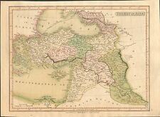 1808 ANTIQUE MAP- H/COL-SMITH, TURKEY IN ASIA, CYPRUS,SYRIA