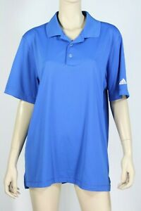 Adidas Blue Sports Polo Short sleeve Top Size L