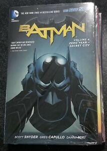 BATMAN Zero Year-Secret City Vol 4 5 9 10 lot DC NEW 52! 1st Print HC Snyder