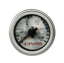 AVS Dual  Needle Gauge Silver Face 200 Psi with BLUE Color LED Air Ride