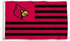 Louisville Cardinals 95532 STRIPES 3x5 Flag w/grommets Banner University of