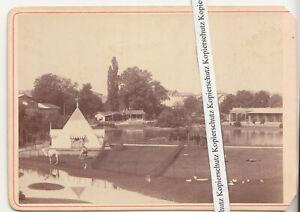 Albumin Foto FRANKFURT AM MAIN Pyramide Zooglogischer Garten 1880er (F2565