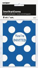 Invitaciones de fiesta color principal azul