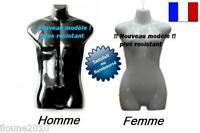 MANNEQUIN 1/2 BUSTE FEMME HOMME LINGERIE SOUPLE INCASSABLE + CROCHET