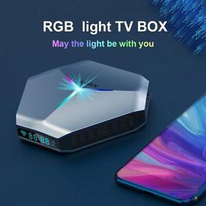 2021 A95X F4 Amlogic S905X4 Android 10 8K RGB Light Smart TV Box 4GB 64GB Plex