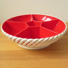 EMSA PLASTIC SNACK DISH SERVING BOWL | Chip & Dip | Vintage 1970s | West-Germany