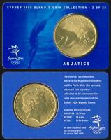 SYDNEY 2000 OLYMPIC COIN COLLECTION AQUATICS SWIMMING - REAL $5 AUSTRALIAN COIN