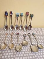 12 Crested Plated Tea Spoons