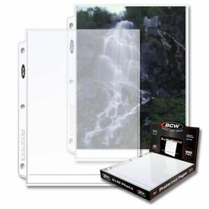 (25) BCW PRO 1-POCKET PHOTO PAGES - 8 X 10
