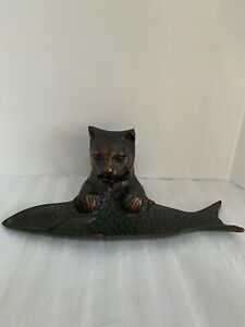 Ganz Cast Cat Fish Trinket Tray Dish Dark Bronze Bella Casa Holder