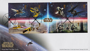 GREAT BRITAIN - 2019 STAR WARS / MOVIE / SPACE - MS - FDC