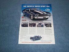 Franklin Mint 1970 Chevelle SS454 LS6 Die-Cast Vintage Ad Super Sport