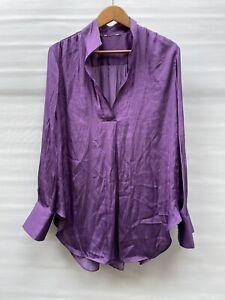 Long Sleeve Blouse Silky Size 12-14