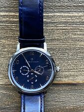 Christian Van Sant Men's Stately Silver/ Blue Dial Watch - CV3510