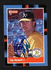 Jay Howell--Autographed 1988 Donruss Baseball Card--Oakland Athletics