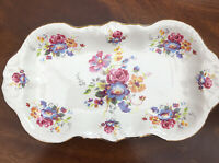 AYNSLEY Plate Dressing Table/Serving Plate. H. Aynsley Staffordshire. Floral