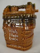 Vintage McCoy Pottery Wishing Well Cookie Jar WISH I HAD A COOKIE USA nice