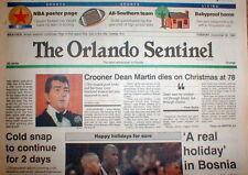 1995 newspaper Singer DEAN MARTIN DEAD Former partner Comedy Duo w JERRY LEWIS