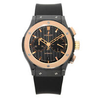 Hublot Classic Fusion Rose Gold Ceramic Black Dial Mens Watch 521.CO.1781.RX