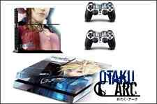 PS4 Skin - Final Fantasy 7 Cloud - Playstation 4 Console+2 Controllers Skin set