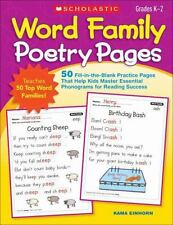 Word Family Poetry Pages: 50 Fill-in-the-