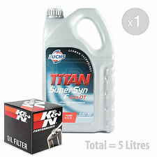 Engine Oil and Filter Service Kit 5 LITRES Fuchs Supersyn F Eco-DT 5w-30 5L