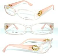 GUCCI BRILLE GG 3047 KLAR ROSA GOLD LOGO DAMEN LUXUS FASSUNG ENVY GUILTY ETUI
