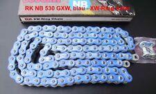 RK 530 GXW chaîne, bleu, YAMAHA YZF 1000, R1, RN19, RN22, bleu TOP QUALITY