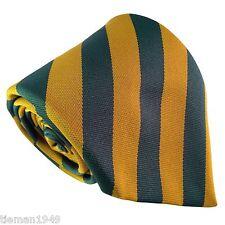 Team Australia Colours Green Gold Mens Tie Cricket Wallabies Kangaroos Socceroos