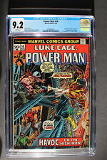 POWER MAN 18 LUKE CAGE 1st Steeplejack 1974 1st COTTONMOUTH mention CGC NM- 9.2