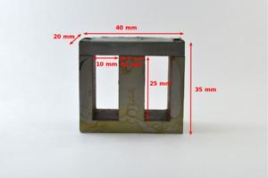 50% Nickel Permalloy Transformer Core EI-40. Made in USSR. NOS. Diamond