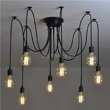 8-Arm E27 Vintage Pendant Ceiling Light Fixture Chandelier Adjustable Bedroom