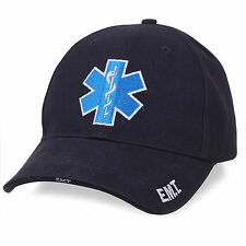 Rothco Deluxe EMT EMS Star of Life Medic Paramedic Baseball Cap Hat Navy Blue