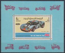 Yemen Kgr 1969 ** Bl.146 A Automobile Ford GT40 Rennwagen Racing Car