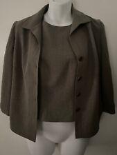 Ann Taylor Petites 2 Pieces Suit Blazer Coat Top Blouse Gray Business Career 2P