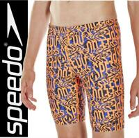 New Speedo Boys Allover Logo Swimming Jammers  Age 5 to 14  Swim Shorts trunks