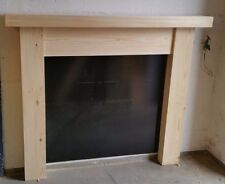 LARGE PINE CHUNKY FIRE SURROUND 3 INCHES THICK TOP free postage