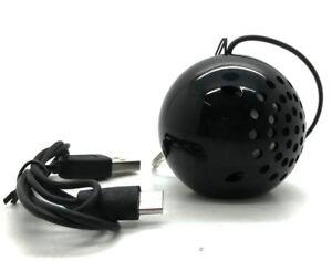 Genuine KitSound Mini Buddy Portable Rechargeable Universal Speaker 3.5mm Black