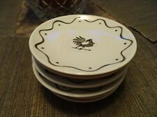 Vintage Royal China Saucers Roosters Retro Atomic 50s 10 ea (UB)