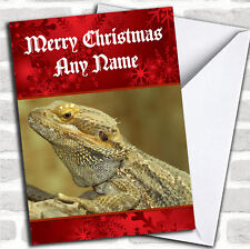 Bearded Dragon Lizard Christmas Customised Card