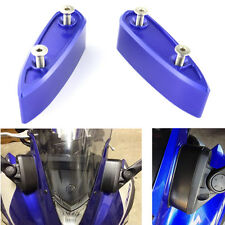 Motorcycle Mirror Extenders Spacers for Yamaha YZF-R3 YZF-R25 2015-2016 Blue
