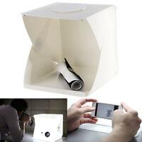 """40cm/16"""" Photo Studio Photography Tent Kit Backdrop Cube Box+2 Bars of LED Light"""