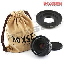 25mm C mount wide CCTV Lens for APS-C sensor camera + C-NEX A6000 A5100 7 5T 6