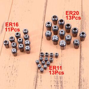 ER11 ER16 ER20 Precision Spring Collet Set CNC Milling Lathe Tool Workholding UK