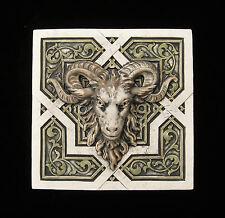 Ram Goat Aries Zodiac Gargoyle Arts & Crafts Gothic Ellison Tile